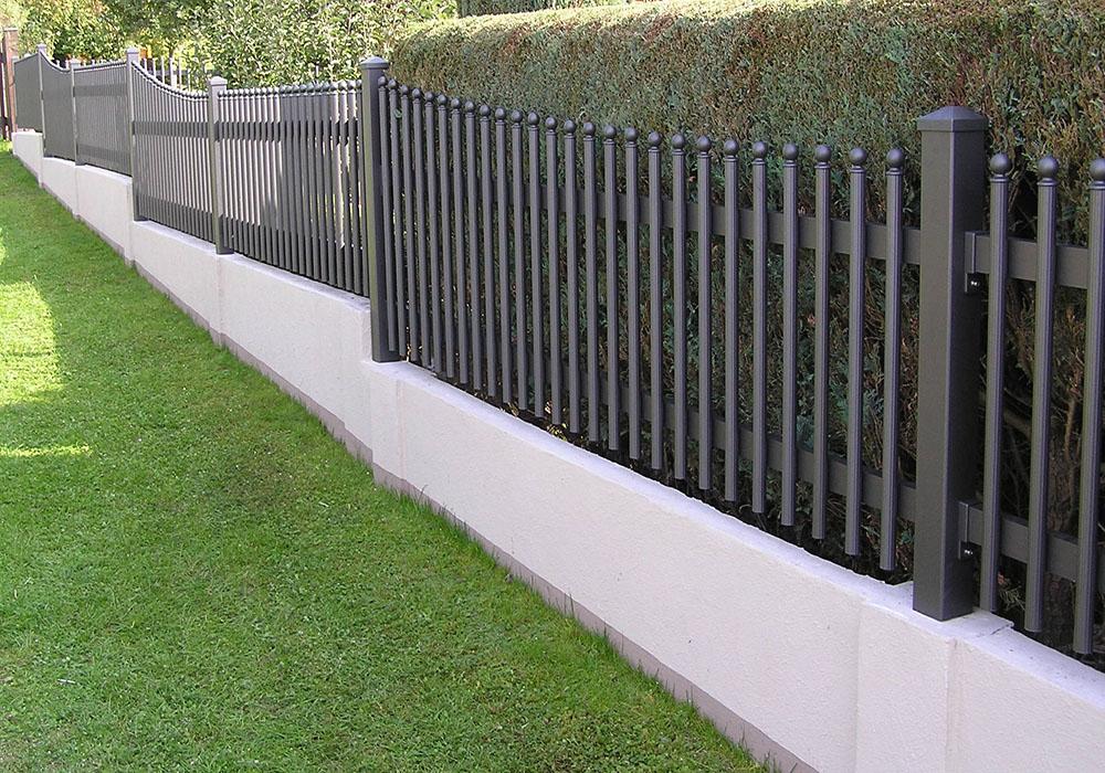 Gartenzaun Aluminium